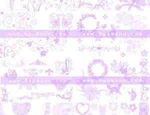 9套蕾丝花纹笔刷打包下载