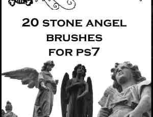 天使的石雕笔刷