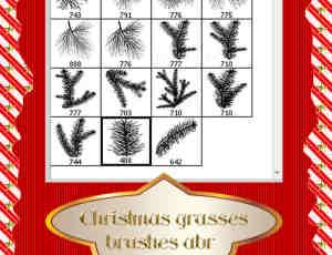 圣诞树杉树笔刷