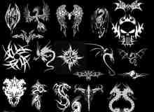 各式酷炫神话纹身图案笔刷