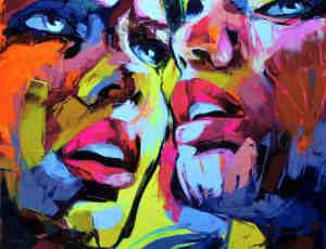 12张用油画刀创作的肖像油画欣赏