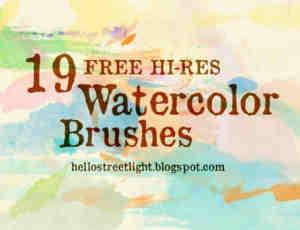 12种免费的水彩笔效果笔刷