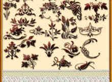 自然式花纹花饰自定义形状