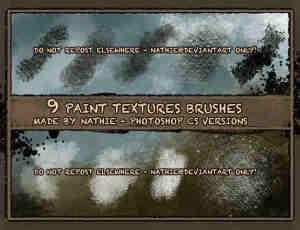 9种油漆粉饰画笔