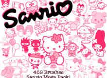 459个可爱的Hello Kitty笔刷