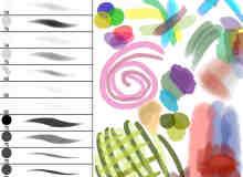 PS荧光型笔触材质笔刷