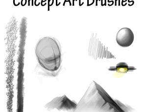 素描艺术绘画笔触笔刷