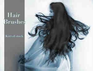 15种女式头发效果笔刷