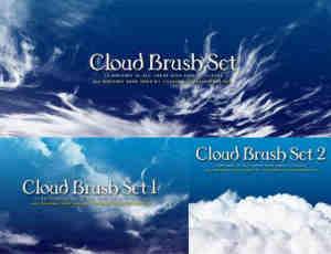 3组Photoshop天空白云笔刷