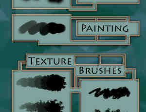 油漆水墨变种PS笔刷