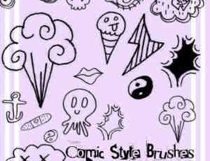 漫画涂鸦风格照片装饰笔刷