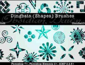 花纹装饰形状笔刷