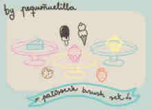 卡哇伊卡通天气符号涂鸦笔刷