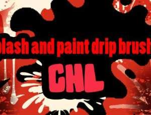 10种飞溅的油漆笔刷
