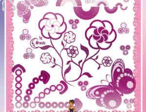 漂亮且卡哇伊的Photoshop花纹笔刷