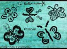 童趣式涂鸦蝴蝶笔刷