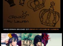 卡哇伊照片装饰涂鸦皇冠笔刷