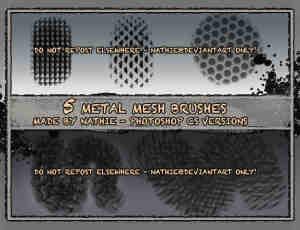 金属网格笔刷