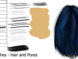 PS头发和毛孔笔刷