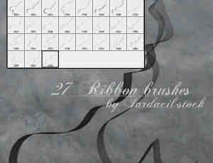 27种飘逸的艺术丝带笔刷