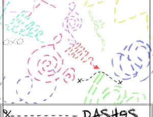 可爱的虚线涂鸦笔刷