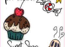 甜品饮料糖果涂鸦PS笔刷