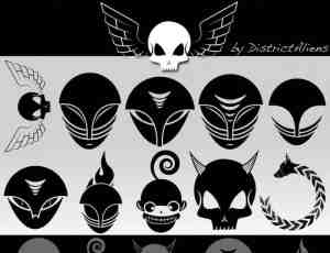 骷髅党面具图案PS笔刷