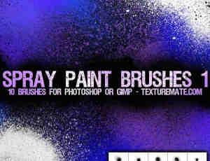 油漆喷涂PS笔刷