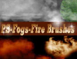 高清PS水雾、气焰、雾气笔刷