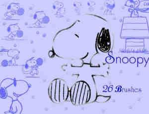 26个可爱小狗史努比笔刷