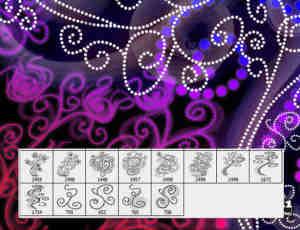 漂亮的点状式花纹图案笔刷