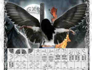 魔族暗黑族花纹翅膀装饰笔刷