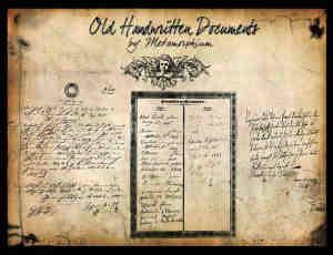 欧洲古朴羊皮纸与手写英文字体笔刷