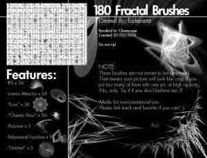 180种炫光超酷光线特效笔刷