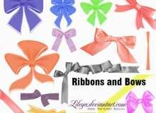 蝴蝶结包装彩带笔刷
