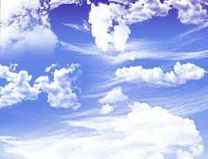 两个真实的蓝天白云笔刷