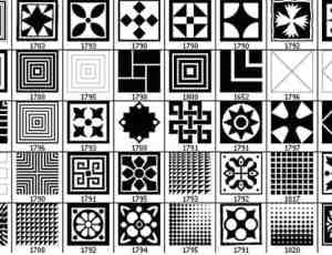 经典的方块图案笔刷