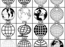 PS地图地球仪图形笔刷
