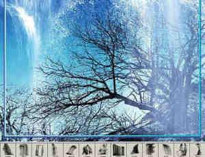 photoshop高分辨率瀑布流水笔刷