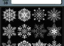 漂亮的高分辨率雪花冰晶笔刷
