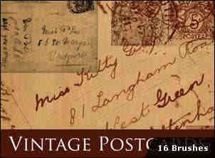 欧洲复古明信片PS高清笔刷