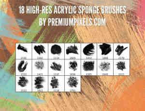 18种高清油漆刷子笔触笔刷