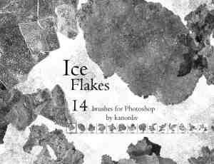 霜花、冰片、冰层、结冰状PS笔刷