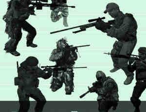 穿越火线狙击手突击队员PS笔刷