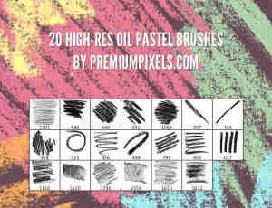 20种仿真式粉笔笔触笔刷