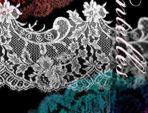 真实的高清蕾丝装饰花边、裙边PS笔刷