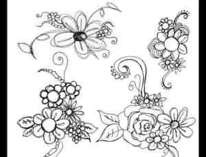 素描式手绘花纹PS笔刷下载