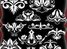 高贵的欧式植物花纹装饰PS笔刷 #.2