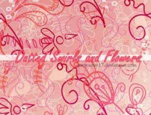 30种可爱创意涂鸦花艺PS笔刷