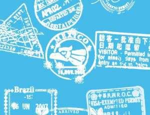 10种世界各地的邮戳印迹PS笔刷